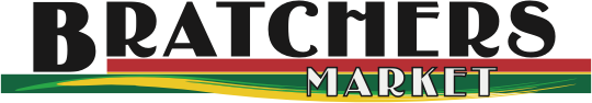 A theme logo of Bratchers Market